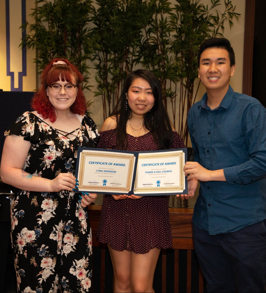 Students accept awards