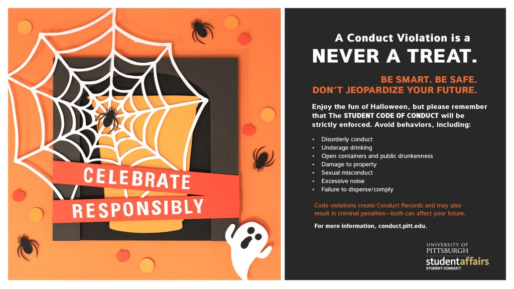 Celebrate responsibly this Halloween