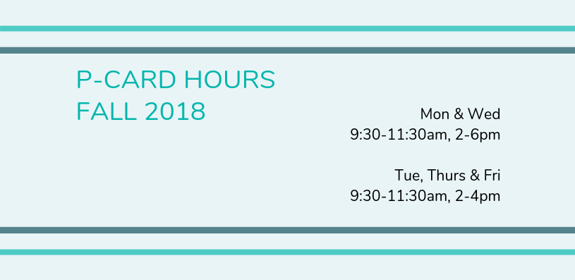 Fall 2018 P-card hours