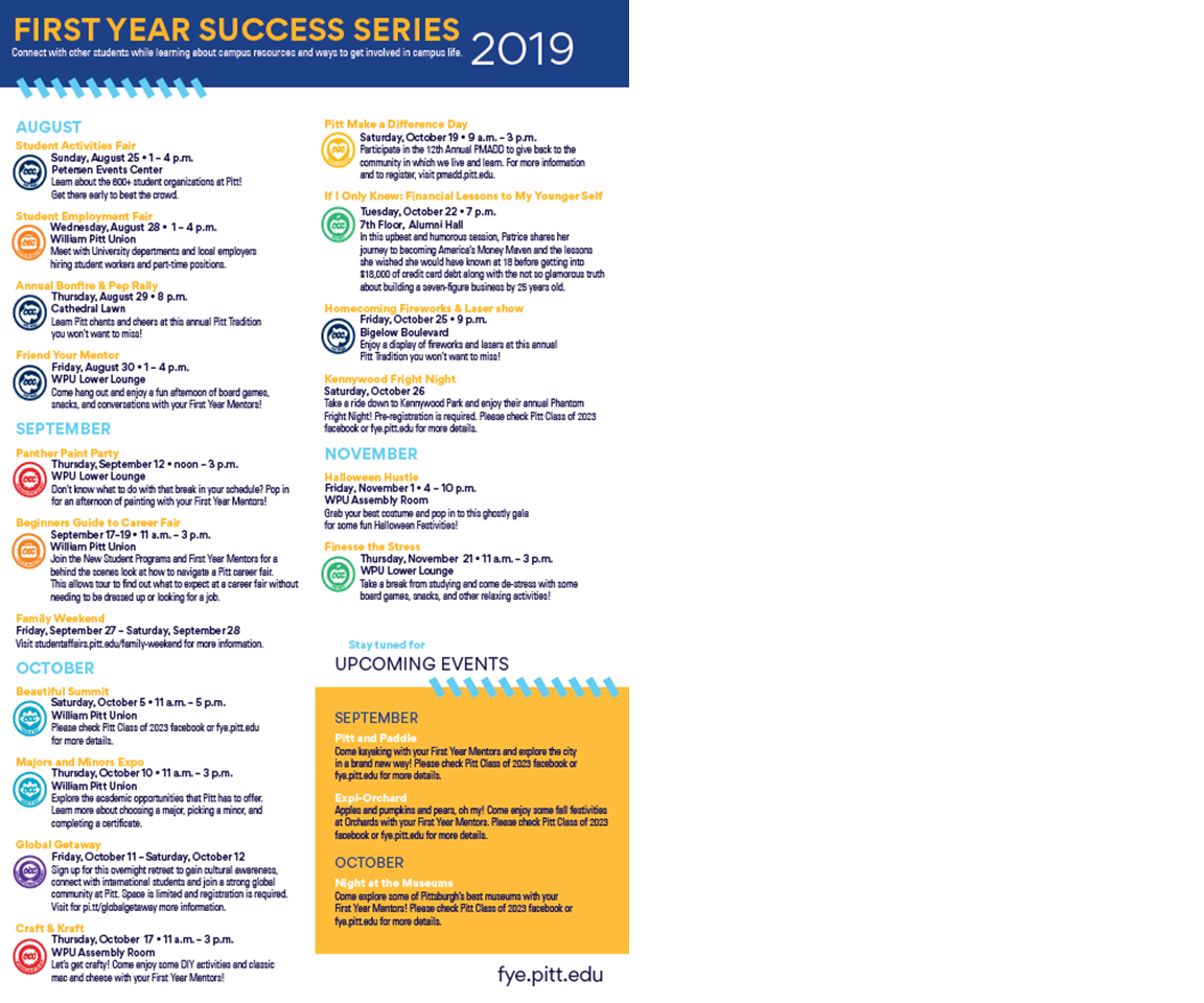 First Year Success Series 2019