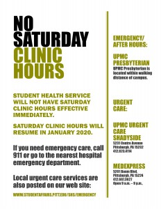 SHS_NO SAT CLINIC HOURS
