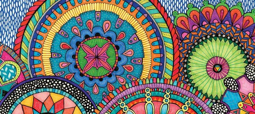 mandalas with color