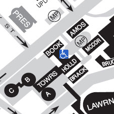 The University Book Center on the map