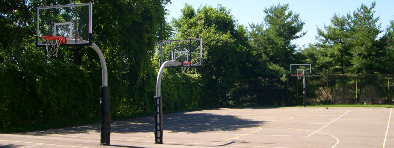 Outdoor Basketball Courts at the University of Pittsburgh