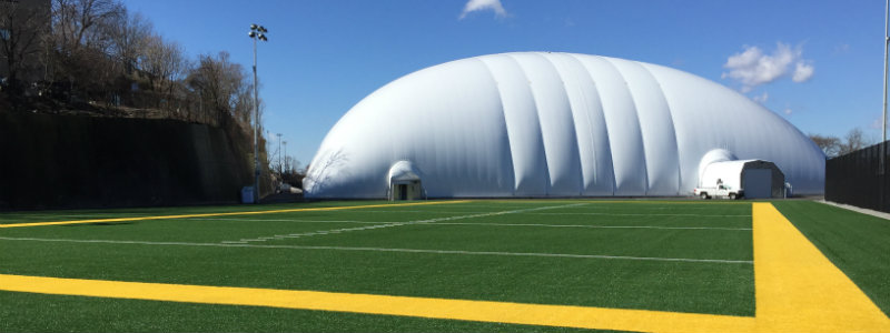 sports dome and turf fields at the University of Pittsburgh