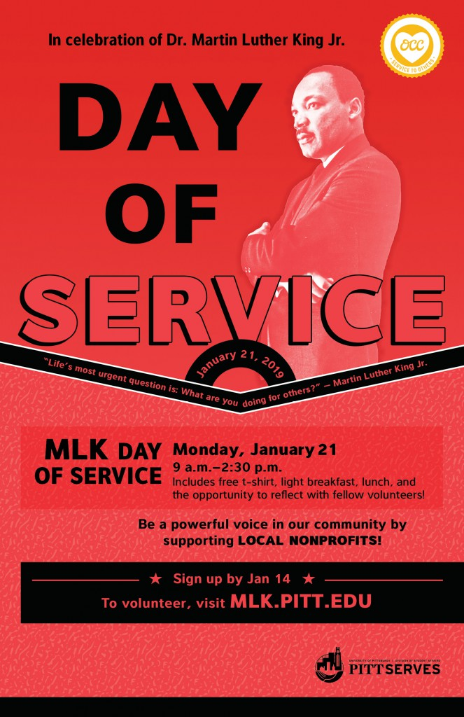 MLK Day of Service is on Monday, January 21. Register by January 14