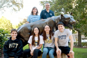 Pitt 2017 Family of the Year The Legatzke Family Encourage your student to watch for the 2018 Family of the Year Essay Contest announcement in March!