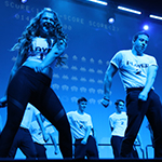 Students dance at Greek Sing