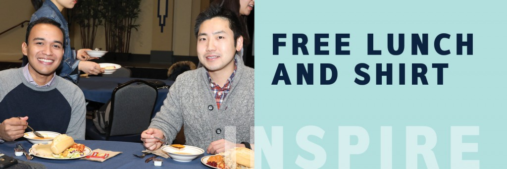 Free lunch and shirt