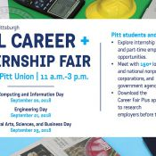 Fall Career Fair September 20, 21, and 25