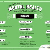 Let's Talk October Mental Health Awareness Month