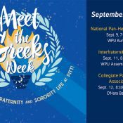 Meet the Greeks Sept 9-12