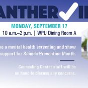 Panther Check In Mental Health September 17