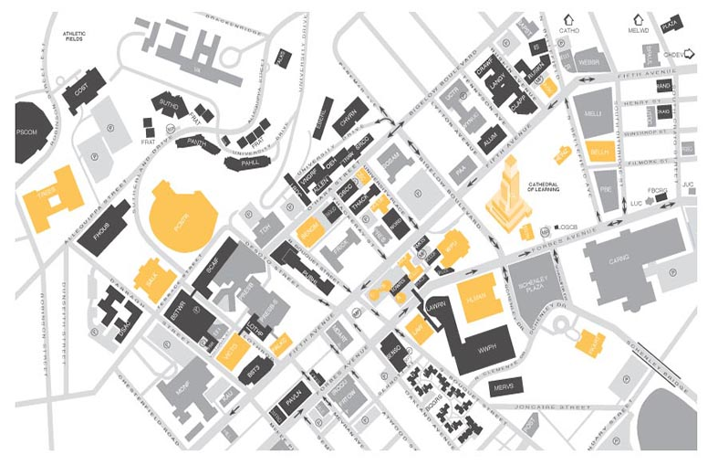 University Of Pitt Campus Map Interactive Campus Map | Student Affairs