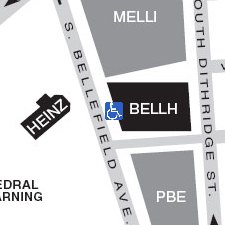 Bellefield Hall on the map