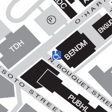 Benedum Hall on the map