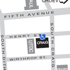 Craig Hall on the map