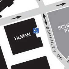 Hillman Library on the map