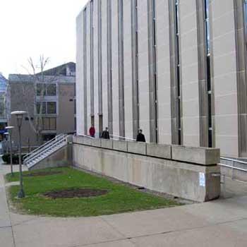 Langley Hall entrance