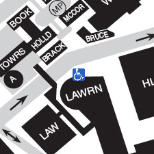 Lawrence Hall on the map