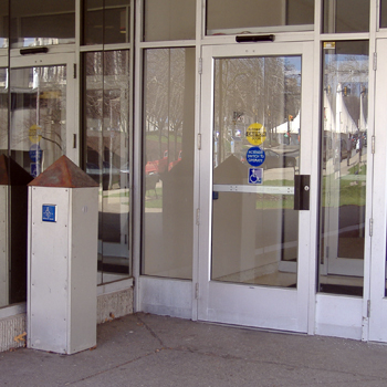 Mervis Hall entrance