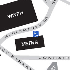 Mervis Hall on the  map