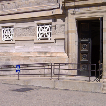 Soldiers and Sailors Memorial entrance