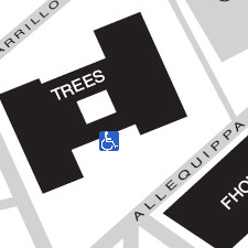 Trees Hall on the map