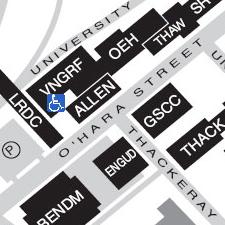 Van de Graaff Building on the map
