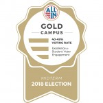 Gold Seal for Excellence in Student Voter Engagement